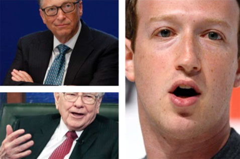 Bill Gates Mark Zuckerberg Warren Buffet