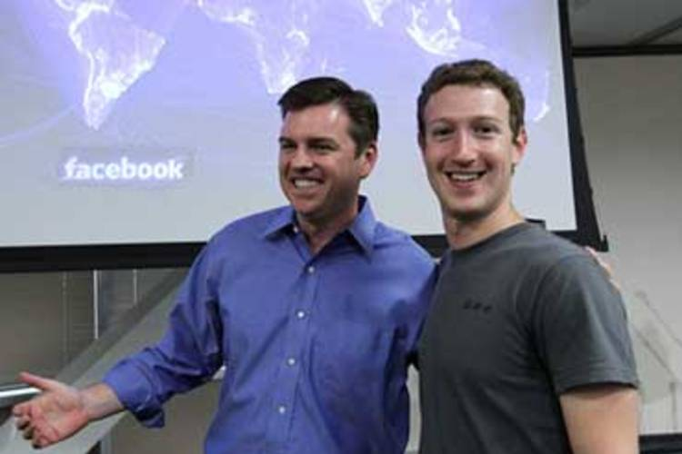 Tony Bates e Mark Zuckerberg © GettyImages