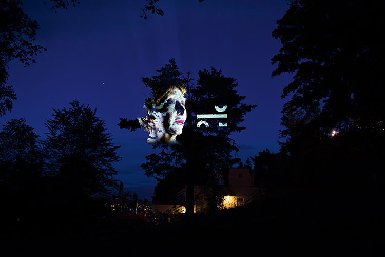 Cognitive & Dissonance, Tony Oursler © Ekebergparken/Ivar Kvaal