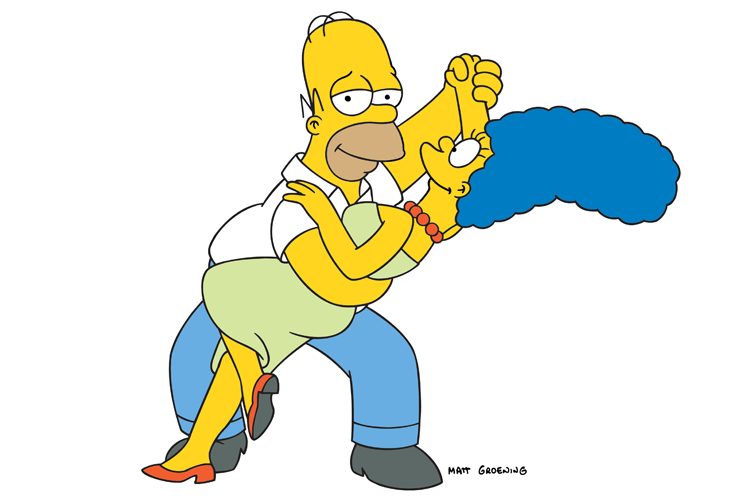 The-Simpsons-Homer-Marge © concFox