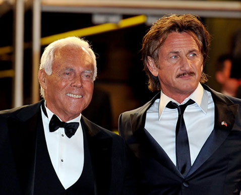 Giorgio Armani e Sean Penn© Getty Images