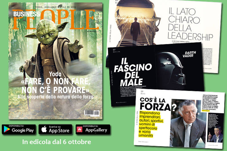 Intervista esclusiva a Yoda su Business People di agosto